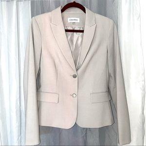 NWOT Calvin Klein Tan Blazer Suit Jacket Sz 6